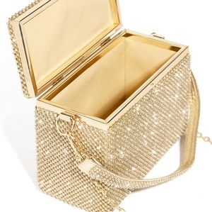 Money clutch - gold and bedazzel all around